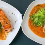 Zucchinispaghetti & Lachs